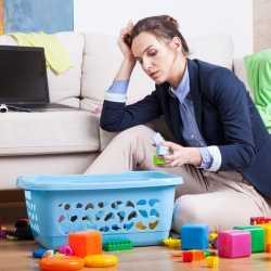 El estrés de ser madre y trabajadora