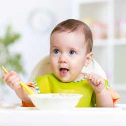 Las primeras papillas de verduras con carne para el bebé