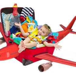 Vacaciones con bebés en avión, en coche o en tren