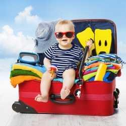 Cómo preparar un viaje de vacaciones con un bebé